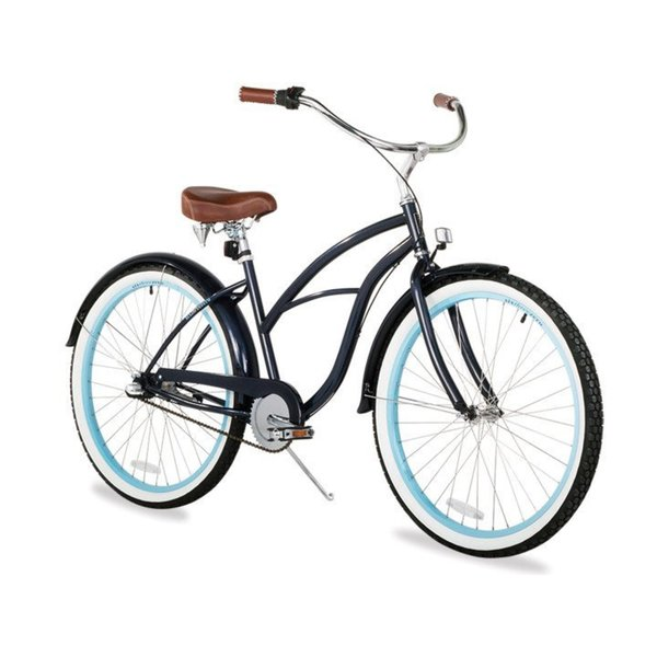"26"" sixthreezero Classic Edition Three Speed Beach Cruiser Women's Bicycle, Dark Blue"