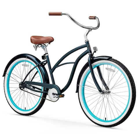 "26"" sixthreezero Classic Edition Single Speed Beach Cruiser Women's Bicycle, Dark Blue"