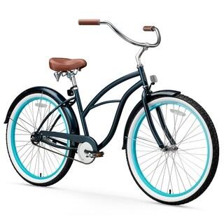 "26"" sixthreezero Classic Edition Single Speed Beach Cruiser Women's Bicycle, Dark Blue"