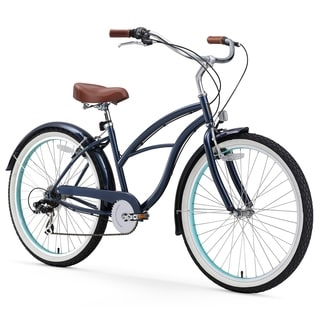 "26"" sixthreezero Classic Edition Seven Speed Beach Cruiser Women's Bicycle, Dark Blue"