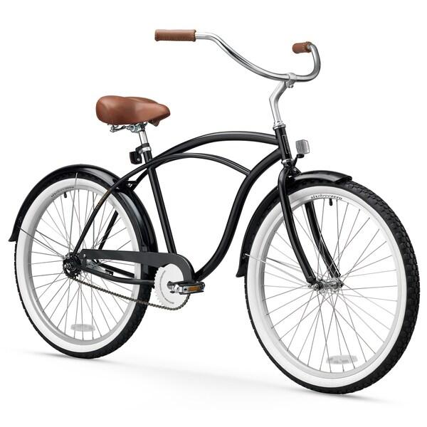 "26"" sixthreezero BE Single Speed Beach Cruiser Men's Bicycle, Black"