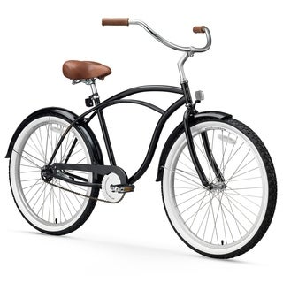"26"" sixthreezero BE Single Speed Beach Cruiser Men's Bicycle, Black"