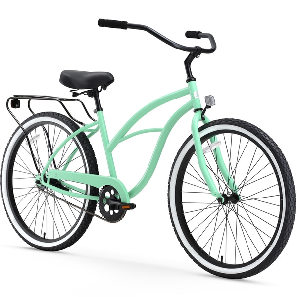 "26"" sixthreezero Around the Block Single Speed Beach Cruiser Women's Bicycle, Mint Green"