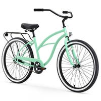 "26"" sixthreezero Around the Block Single Speed Beach Cruiser Women's Bicycle, Mint Green"