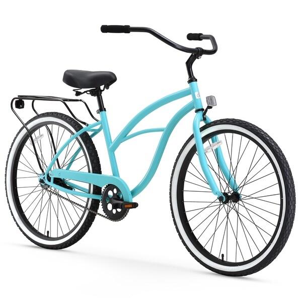 "26"" sixthreezero Around the Block Single Speed Beach Cruiser Women's Bicycle, Teal Blue"