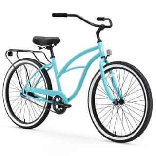 "26"" sixthreezero Around the Block Single Speed Beach Cruiser Women's Bicycle, Teal Blue https://ak1.ostkcdn.com/images/products/15673247/P22098571.jpg?impolicy=medium"