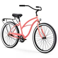 "26"" sixthreezero Around the Block Single Speed Beach Cruiser Women's Bicycle, Coral"