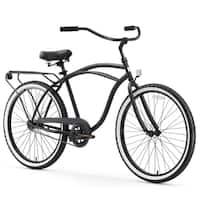 "26"" sixthreezero Around The Block Single Speed Beach Cruiser Men's Bicycle, Black"