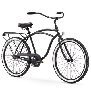 "26"" sixthreezero Around The Block Single Speed Beach Cruiser Men's Bicycle, Black"