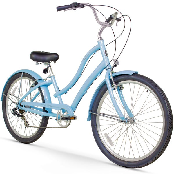 "26"" Firmstrong Women's CA-520 Seven Speed Beach Cruiser Bicycle, Baby Blue"