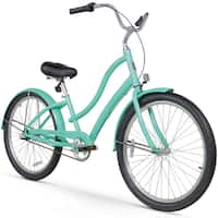 "26"" Firmstrong Women's CA-520 Three Speed Beach Cruiser Bicycle, Mint Green"
