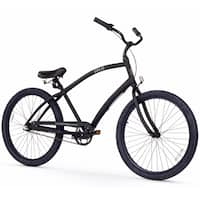 "26"" Firmstrong Men's CA-520 Alloy Three Speed Beach Cruiser Bicycle, Matte Black"
