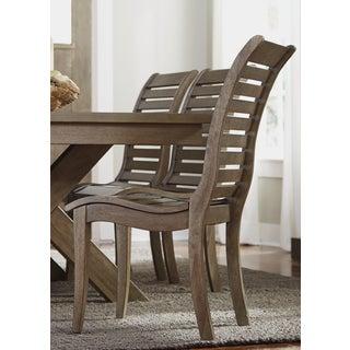 Bayside Washed Chestnut Slat Back Side Chair
