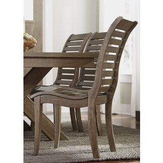 Bayside Washed Chestnut Slat Back Side Chair