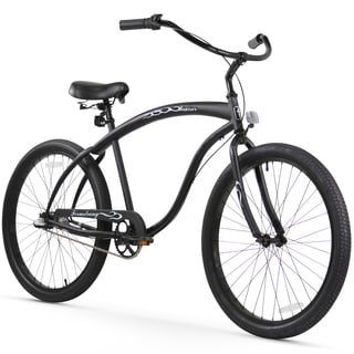 "26"" Firmstrong Bruiser Man Three Speed Beach Cruiser Men's Bicycle, Matte Black"