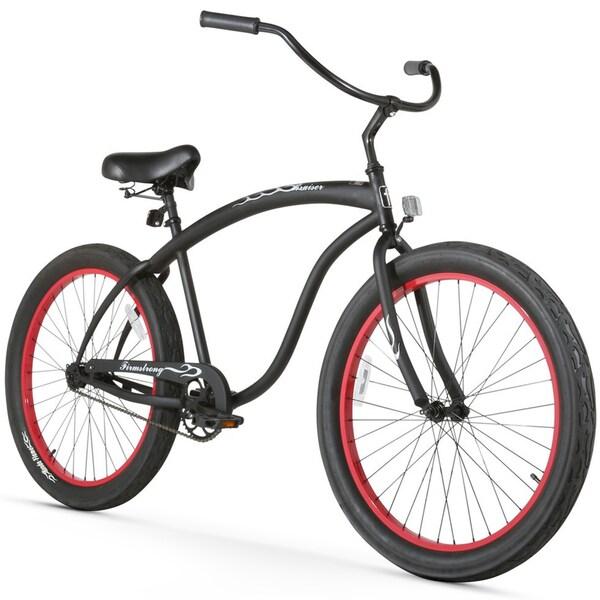 "26"" Firmstrong Bruiser 3.0 Man Single Speed Beach Cruiser Men's Bicycle, Matte Black"