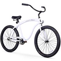 "26"" Firmstrong Bruiser Man Single Speed Beach Cruiser Men's Bicycle, White"