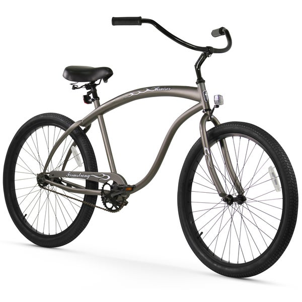 "26"" Firmstrong Bruiser Man Single Speed Beach Cruiser Men's Bicycle, Matte Grey"