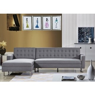 Clamonte Grey Fabric Left Sectional Sofa and Chaise