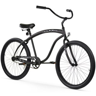 "26"" Firmstrong Bruiser Man Single Speed Beach Cruiser Men's Bicycle, Matte Black"