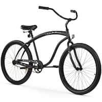 "26"" Firmstrong Bruiser Man Single Speed Beach Cruiser Men's Bicycle, Matte Black"