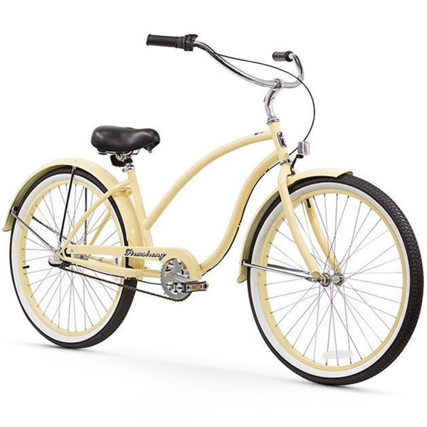 "26"" Firmstrong Chief Lady Three Speed Beach Cruiser Bicycle, Vanilla"