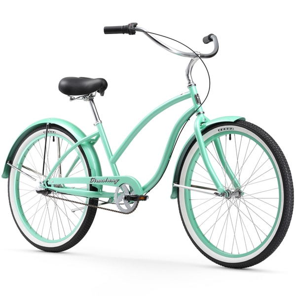 """26"""" Firmstrong Chief Lady Three Speed Beach Cruiser Bicycle, Mint Green"""