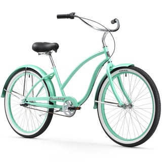"26"" Firmstrong Chief Lady Three Speed Beach Cruiser Bicycle, Mint Green"