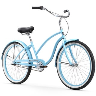 "26"" Firmstrong Chief Lady Three Speed Beach Cruiser Bicycle, Baby Blue"