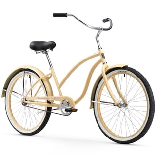 "26"" Firmstrong Chief Lady Single Speed Beach Cruiser Bicycle, Vanilla"