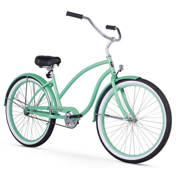 """26"""" Firmstrong Chief Lady Single Speed Beach Cruiser Bicycle, Mint Green"""