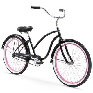 "26"" Firmstrong Chief Lady Single Speed Beach Cruiser Bicycle, Black"
