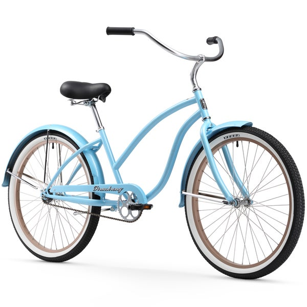 """26"""" Firmstrong Chief Lady Single Speed Beach Cruiser Bicycle, Light Blue"""