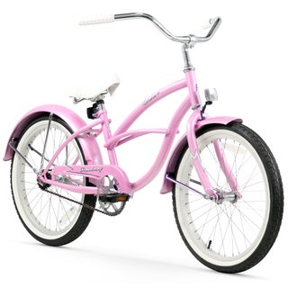 "20"" Firmstrong Urban Girl Single Speed Beach Cruiser Girls' Bicycle, Pink"