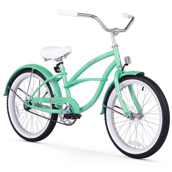 "20"" Firmstrong Urban Girl Single Speed Beach Cruiser Girls' Bicycle, Mint Green"