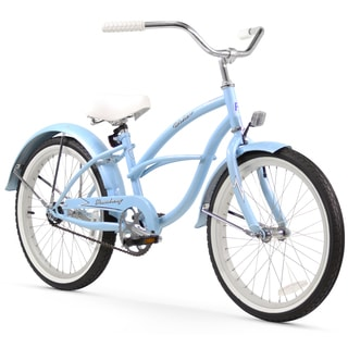 "20"" Firmstrong Urban Girl Single Speed Beach Cruiser Girls' Bicycle, Baby Blue"