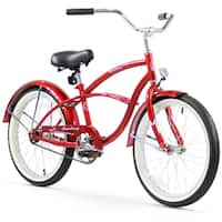 "20"" Firmstrong Urban Boy Single Speed Beach Cruiser Boys' Bicycle, Red"