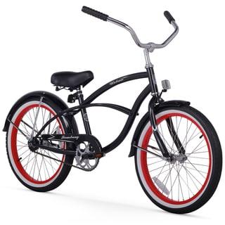 "20"" Firmstrong Urban Boy Single Speed Beach Cruiser Boys' Bicycle, Black"