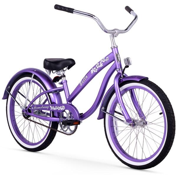 "20"" Firmstrong Bella Single Speed Girl's Cruiser Bicycle, Purple"