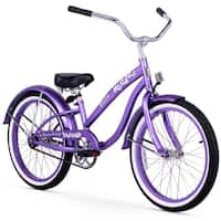 "20"" Firmstrong Bella Single Speed Girl's Cruiser Bicycle, Purple"