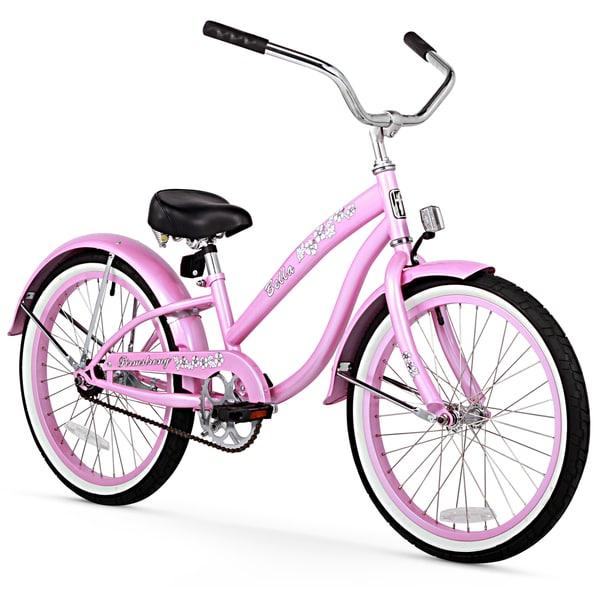 """20"""" Firmstrong Bella Single Speed Girls' Cruiser Bicycle, Pink"""