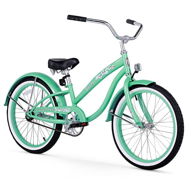"20"" Firmstrong Bella Single Speed Girls' Cruiser Bicycle, Mint Green"