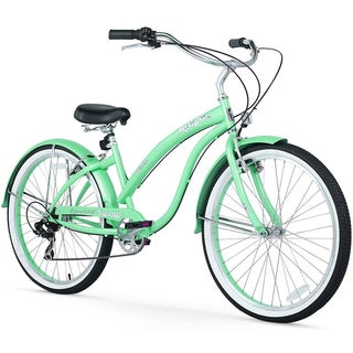 "26"" Firmstrong Bella Classic Seven Speed Women's Beach Cruiser Bicycle, Mint Green"