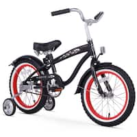 "16"" Firmstrong Bruiser Single Speed Boys' Bicycle with Training Wheels, Black"