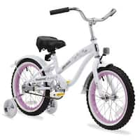 "16"" Firmstrong Mini Bella Single Speed Girls' Bicycle with Training Wheels, White"