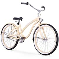 "26"" Firmstrong Bella Classic Three Speed Women's Beach Cruiser Bicycle, Vanilla"