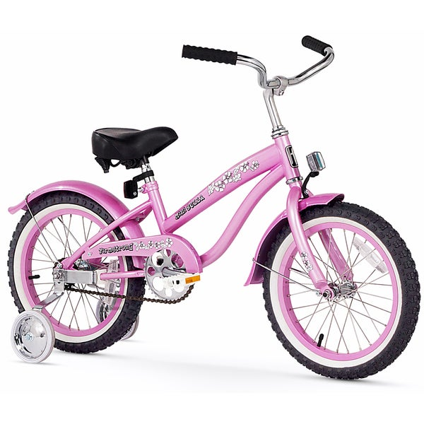 """16"""" Firmstrong Mini Bella Single Speed Girls' Bicycle with Training Wheels, Pink"""
