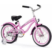 "16"" Firmstrong Mini Bella Single Speed Girls' Bicycle with Training Wheels, Pink"