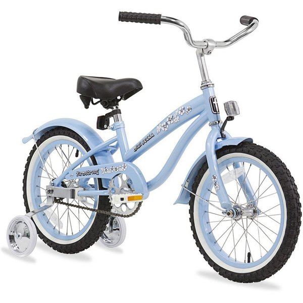 """16"""" Firmstrong Mini Bella Single Speed Girls' Bicycle with Training Wheels, Baby Blue"""
