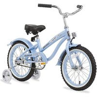 "16"" Firmstrong Mini Bella Single Speed Girls' Bicycle with Training Wheels, Baby Blue"